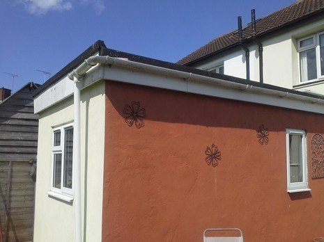 before chimney installation