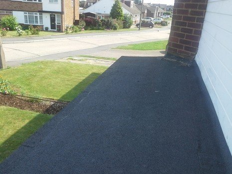after tarmacadam laying