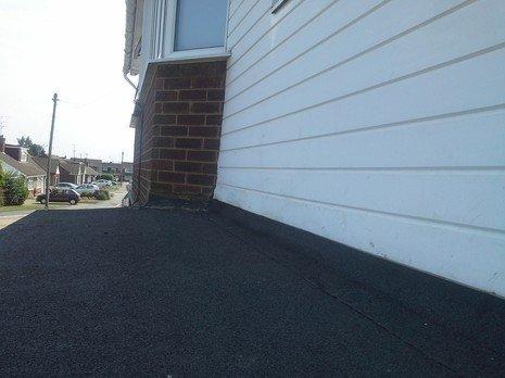 newly laid asphalt