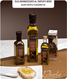 Olio aromatizzato al tartufo nero