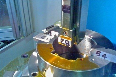 Lavorazione di sgrossatura largh 28 mm + finitura largh 54mm