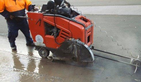 a 1 concrete services concrete cutting machine