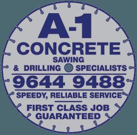 a 1 concrete services logo
