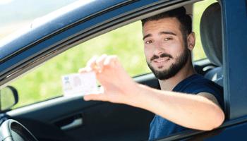 patente, guida, auto, uomo