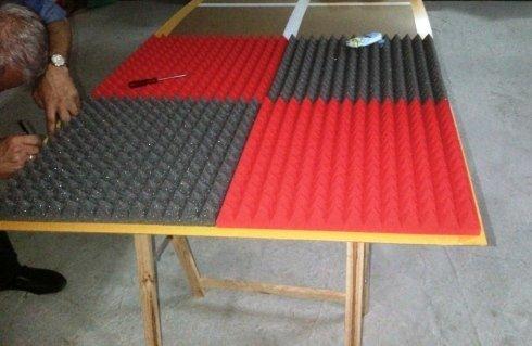 Preparazione pannelli fonoassorbenti piramidali