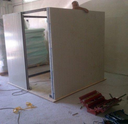 Fasi di lavorazione costruzione box insonorizzato