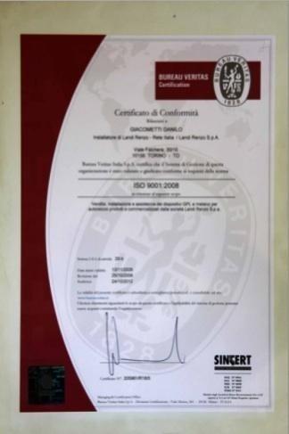 Certificato di conformità autofficina Giacometti Torino
