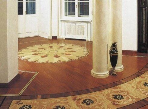 rosoni a intarsio artigianale, rosoni in legno, decori per pavimenti