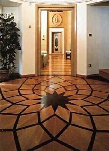 pavimenti decorati, pavimenti in legno, parquet legno massello