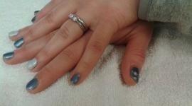 Mani con manicure argentati