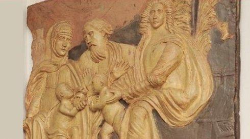 Opera d'arte religiosa di legno