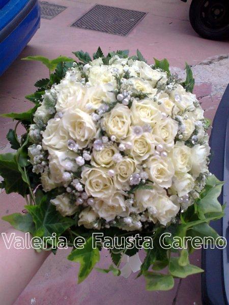 vista dall`alto di fiori bianchi