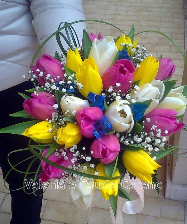 primo piano fiori colorati