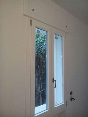 una finestra in PVC
