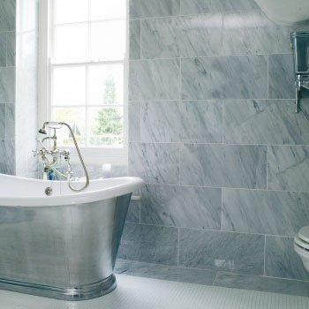 modern tile in modern bathroom