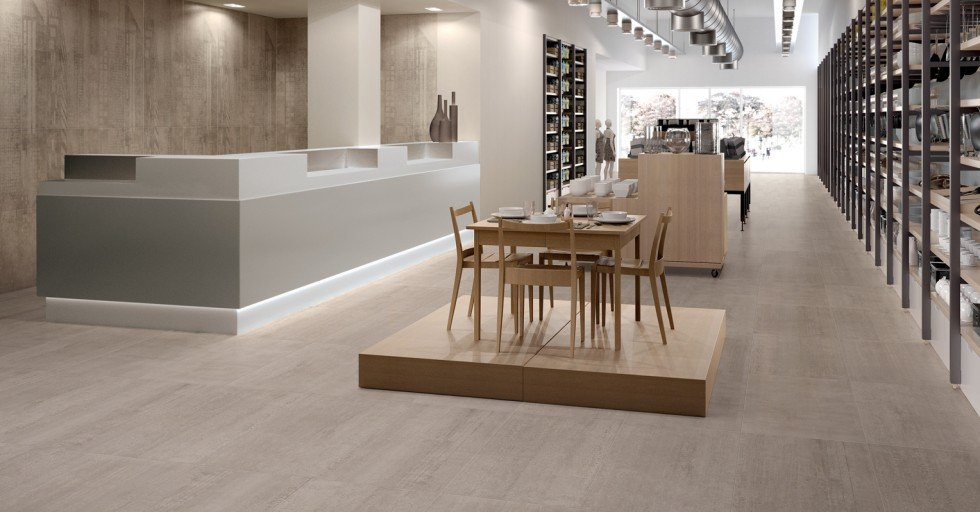 modern commercial space with tables