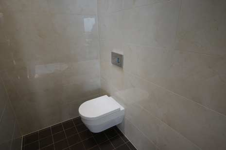 toilet with modern tiling