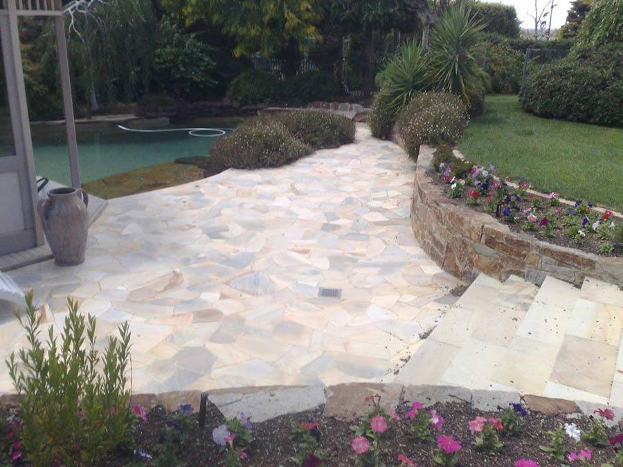 stone garden entrance