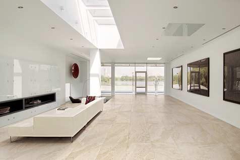 bright living room tiling