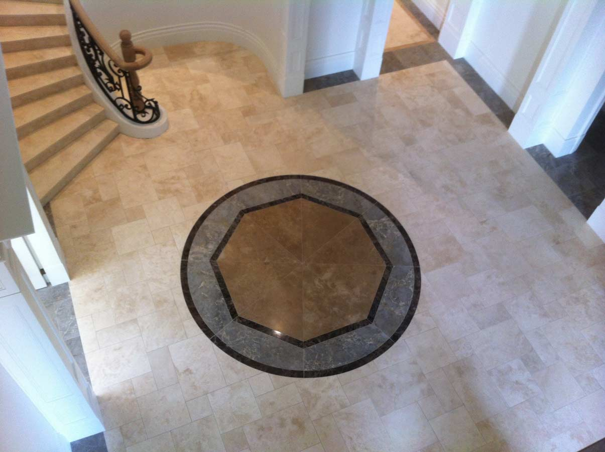 entry way decorative tiling