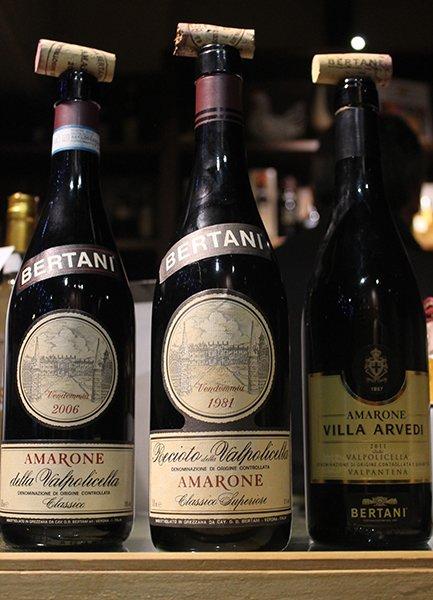 tre bottiglie di Amarone
