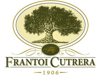 un logo con un albero e la scritta Frantoi Cutrera 1906