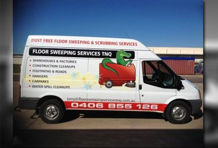 floor sweeping services tnq business vehicle