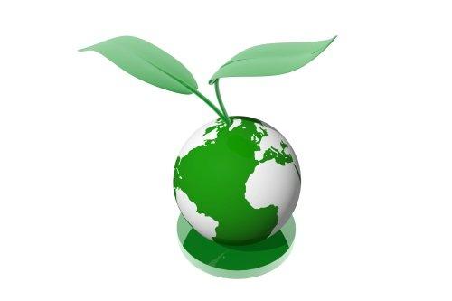 disegno in 3D di mondo e pianta