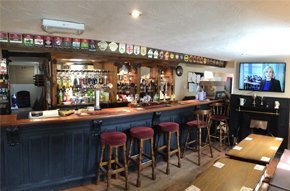 Picture of the bar inside The Courtyard Rooms