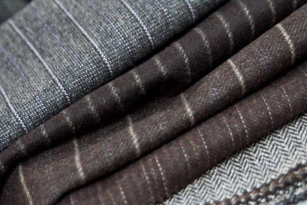 Striped woollen fabrics