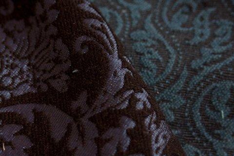 Velvet damask fabrics