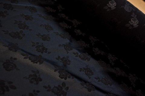 Black satin fabrics