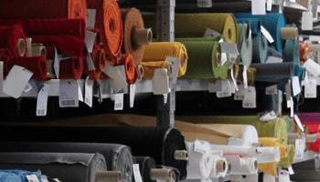magazzini tessuti, tessuti colorati, bobine tessuti