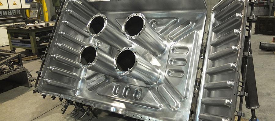 stampo in alluminio  per stampaggio rotazionale per materie plastiche