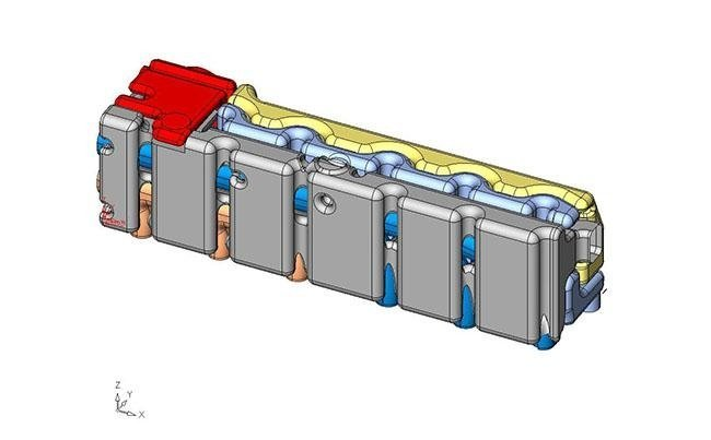 Core divisions study for heat exchanger