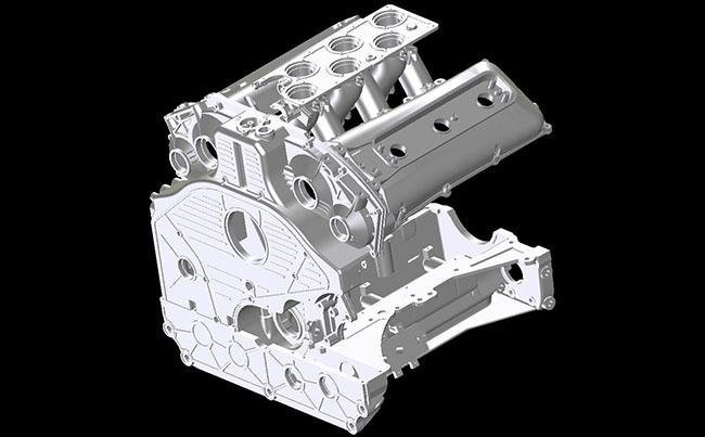 Racing car engine