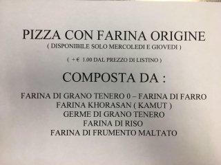 Pizza farina Origine
