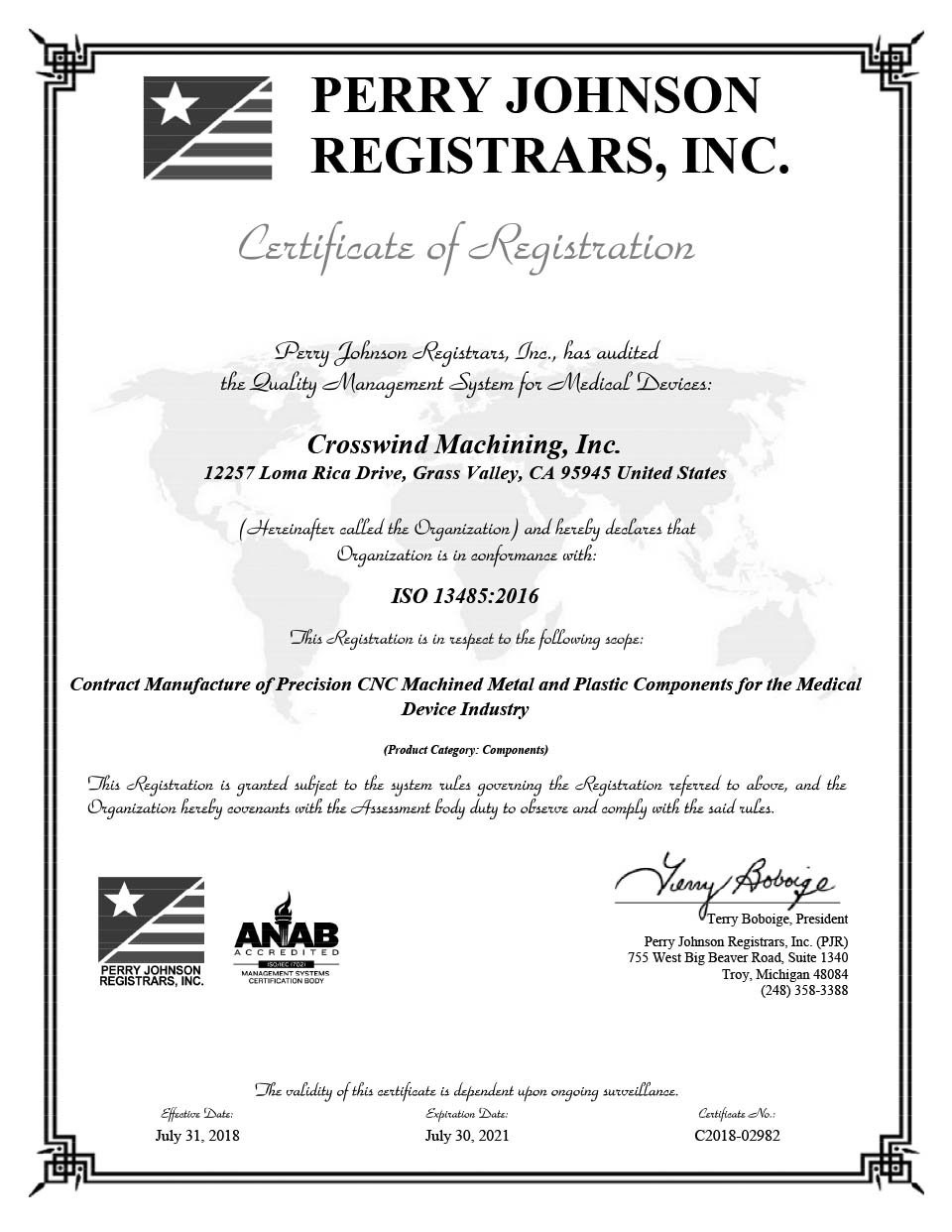 Iso Certificate Medical And Cnc Swiss Technology Northern