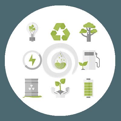Eco-friendly energy icon