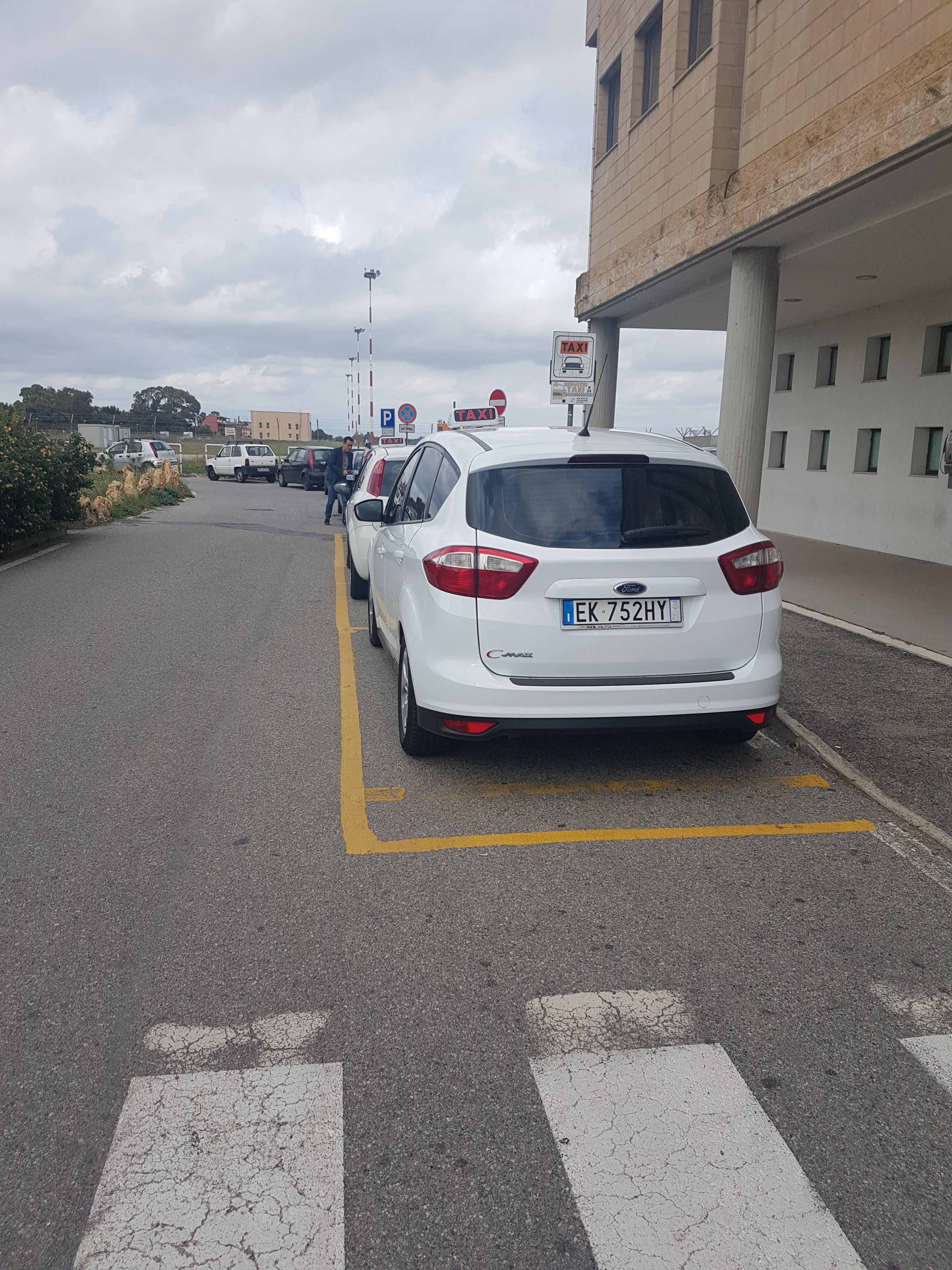 il taxi da dietro