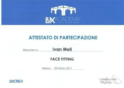 Face fitting Ivan Meli
