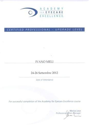 Certified professionist Ivan Meli