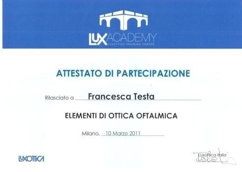 Staff training Francesca Testa