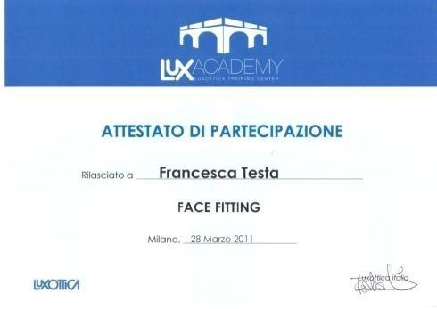 Staff training Francesca Testa face fitting