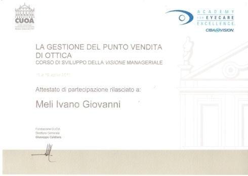 Academy excellence Meli Ivano