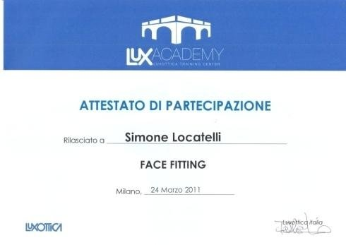 Face fitting Simone Locatelli