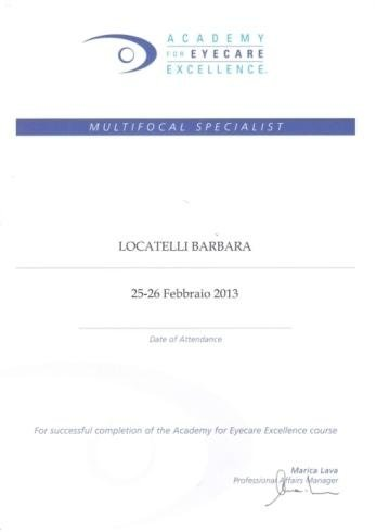 Multifocal specialist Locatelli Barbara