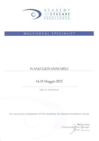Ivano Giovanni Meli focus specialist