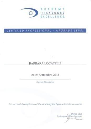 Locatelli Barbara certified professionist