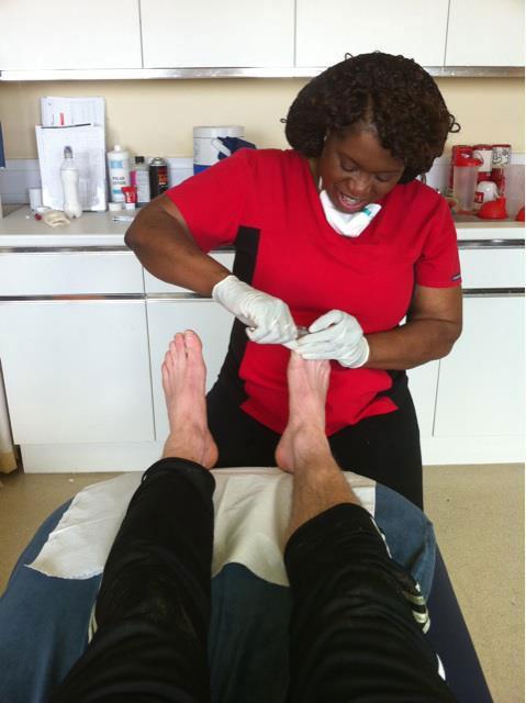 toe nail treatment